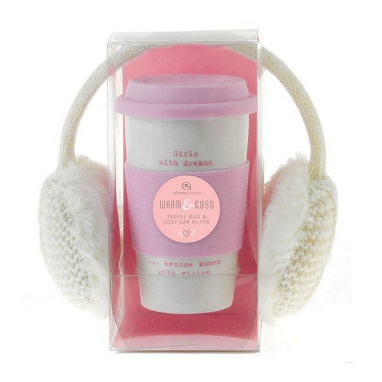 5060398126183 Ear Muffs and Travel Mug - Cream