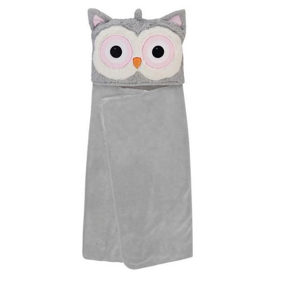 5060398123663 Snuggable Hooded Blanket Owl