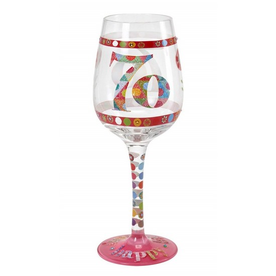 5060298231734 Here's To You 70th Wine Glass