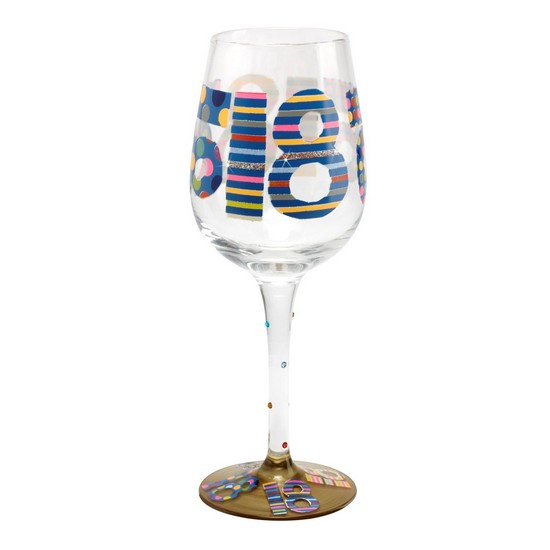 5060298231758 Here's To You 18th Wine Glass