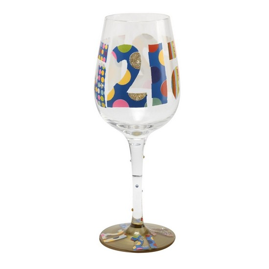 5060298231765 Here's To You 21st Wine Glass