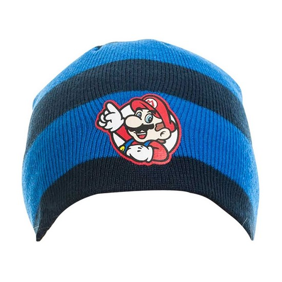 8718526057416 Nintendo Super Mario Striped Beanie Hat