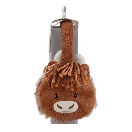 5060398123830 Cosy Knitted Ear Muffs Highland Cow