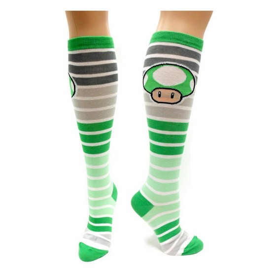 846556483863 Nintendo Super Mario 1UP Mushroom Socks