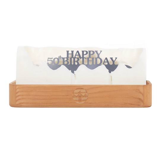 Happy 50th Birthday Hidden Message Candle