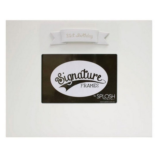9332519054689 21st Birthday Signature Photo Frame