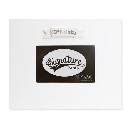 9332519054740 80th Birthday Signature Photo Frame