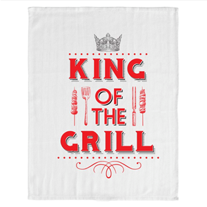 Associate Product King of The Grill BBQ Tea Towel